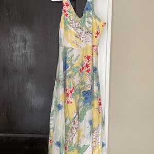 Long floral dress! Very comfortable!